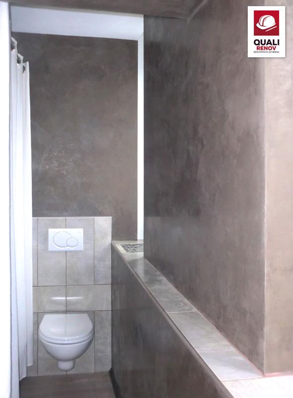 Salle de bain studio quali toiture quali renov for Salle de bain villeneuve d ascq