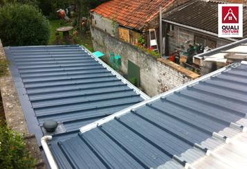 Bac acier villeneuve d ascq quali toiture quali renov - Bac acier imitation zinc ...