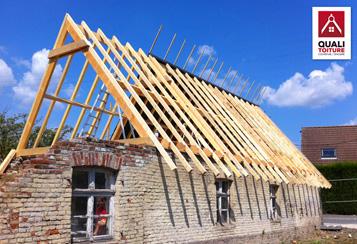Charpente toiture maison flamande quali toiture quali for Cheville bois pour charpente