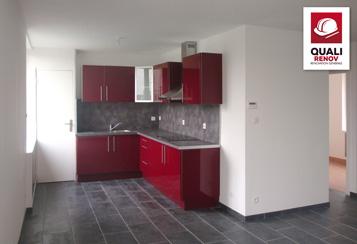 quali renov villeneuve d ascq 59 aménagement interieur cuisine rouge